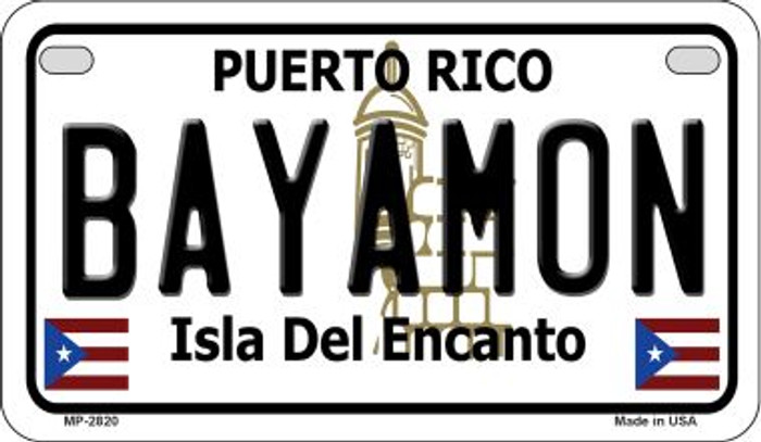 Bayamon Puerto Rico State Wholesale Motorcycle License Plate MP-2820