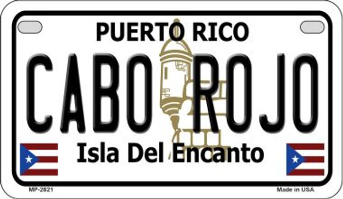 Cabo Rojo Puerto Rico State Wholesale Motorcycle License Plate MP-2821