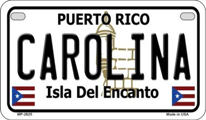 Carolina Puerto Rico State Wholesale Motorcycle License Plate MP-2825