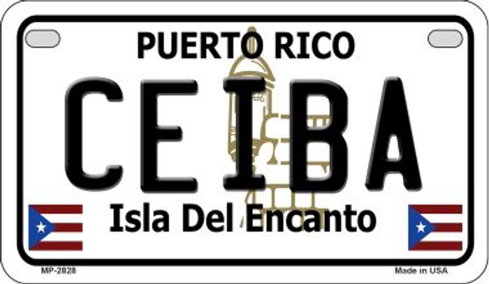 Ceiba Puerto Rico State Wholesale Motorcycle License Plate MP-2828
