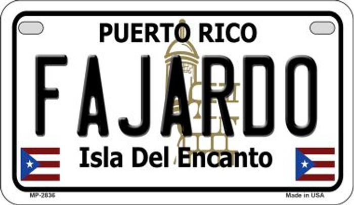 Fajardo Puerto Rico State Wholesale Motorcycle License Plate MP-2836
