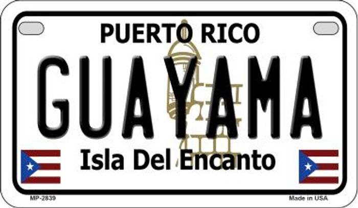 Guayama Puerto Rico State Wholesale Motorcycle License Plate MP-2839