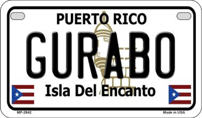 Gurabo Puerto Rico State Wholesale Motorcycle License Plate MP-2842