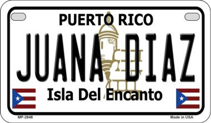 Juana Diaz Puerto Rico State Wholesale Motorcycle License Plate MP-2848