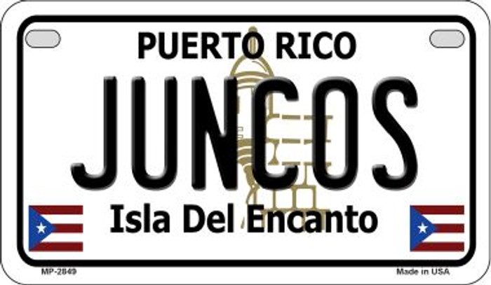 Juncos Puerto Rico State Wholesale Motorcycle License Plate MP-2849