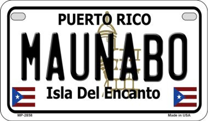 Maunabo Puerto Rico State Wholesale Motorcycle License Plate MP-2858