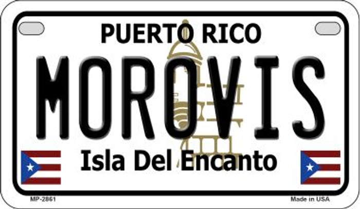 Morovis Puerto Rico State Wholesale Motorcycle License Plate MP-2861