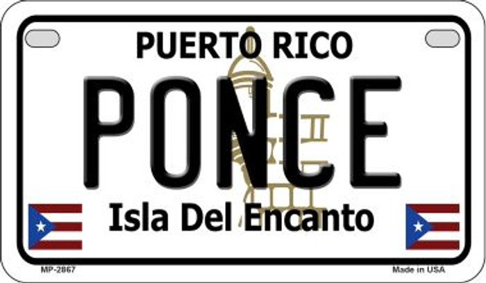 Ponce Puerto Rico State Wholesale Motorcycle License Plate MP-2867