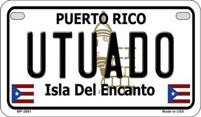 Utuado Puerto Rico State Wholesale Motorcycle License Plate MP-2881