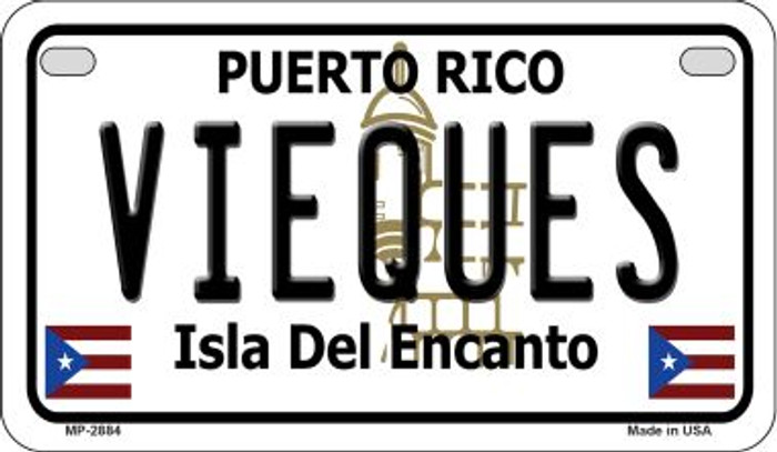 Vieques Puerto Rico State Wholesale Motorcycle License Plate MP-2884