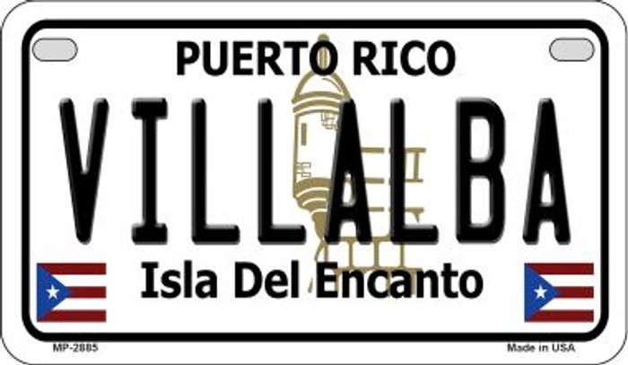 Villalba Puerto Rico State Wholesale Motorcycle License Plate MP-2885
