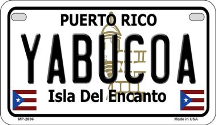 Yabucoa Puerto Rico State Wholesale Motorcycle License Plate MP-2886