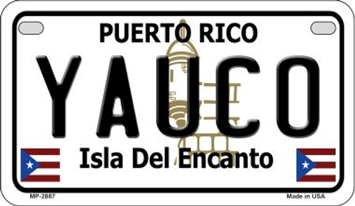 Yauco Puerto Rico State Wholesale Motorcycle License Plate MP-2887