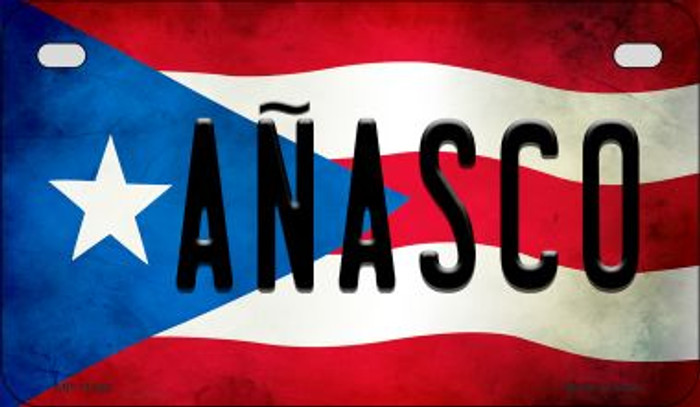 Anasco Puerto Rico State Flag License Plate Wholesale Motorcycle License Plate MP-11320