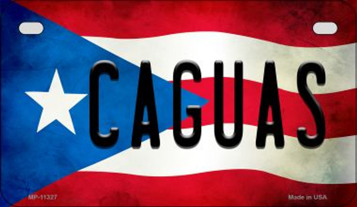 Caguas Puerto Rico State Flag License Plate Wholesale Motorcycle License Plate MP-11327
