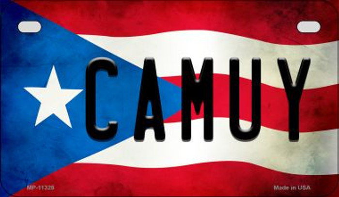 Camuy Puerto Rico State Flag License Plate Wholesale Motorcycle License Plate MP-11328