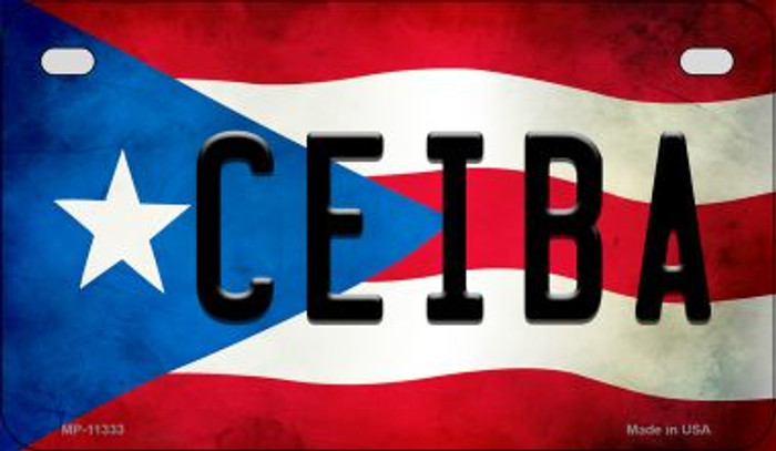 Ceiba Puerto Rico State Flag License Plate Wholesale Motorcycle License Plate MP-11333