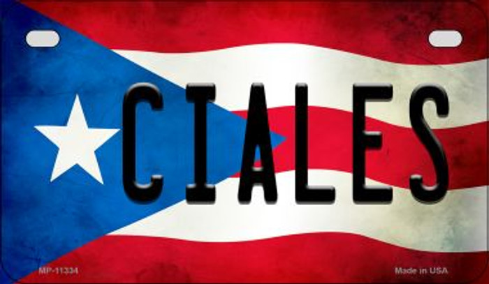 Ciales Puerto Rico State Flag License Plate Wholesale Motorcycle License Plate MP-11334