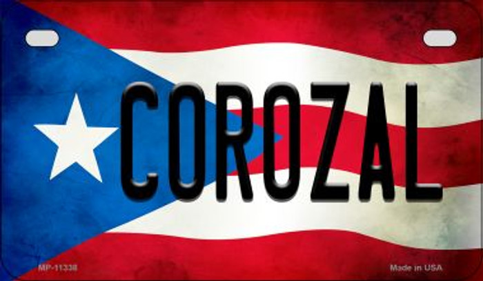 Corozal Puerto Rico State Flag License Plate Wholesale Motorcycle License Plate MP-11338