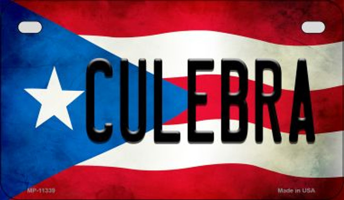 Culebra Puerto Rico State Flag License Plate Wholesale Motorcycle License Plate MP-11339