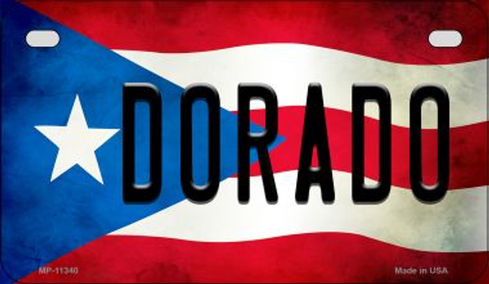 Dorado Puerto Rico State Flag License Plate Wholesale Motorcycle License Plate MP-11340