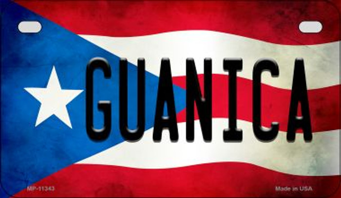 Guanica Puerto Rico State Flag License Plate Wholesale Motorcycle License Plate MP-11343