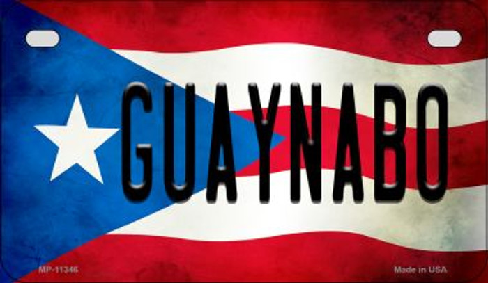 Guaynabo Puerto Rico State Flag License Plate Wholesale Motorcycle License Plate MP-11346