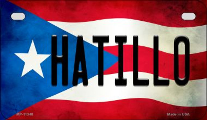 Hatillo Puerto Rico State Flag License Plate Wholesale Motorcycle License Plate MP-11348