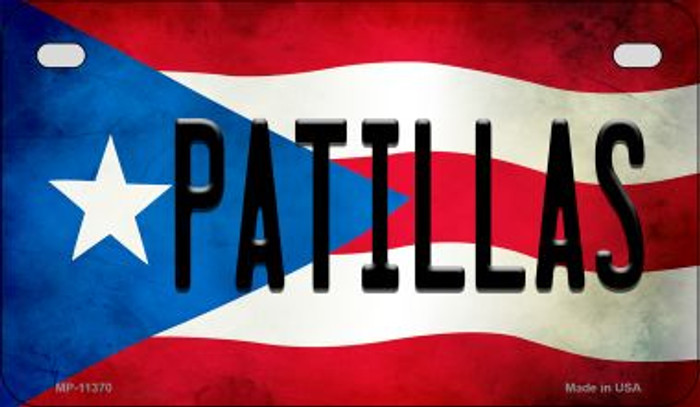 Patillas Puerto Rico State Flag License Plate Wholesale Motorcycle License Plate MP-11370