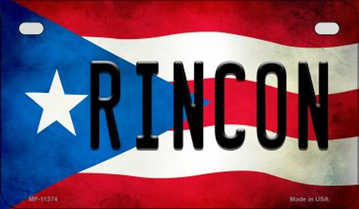 Rincon Puerto Rico State Flag License Plate Wholesale Motorcycle License Plate MP-11374