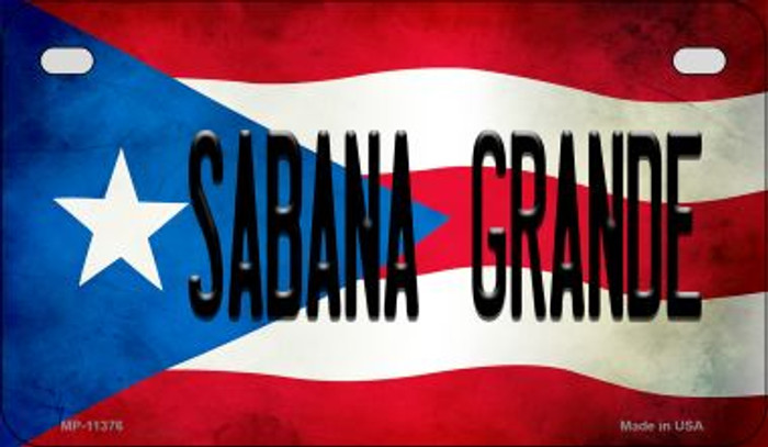Sabana Grande Puerto Rico State Flag License Plate Wholesale Motorcycle License Plate MP-11376