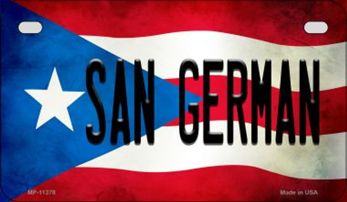 San German Puerto Rico State Flag License Plate Wholesale Motorcycle License Plate MP-11378
