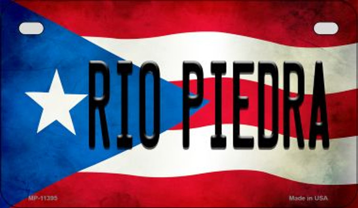 Rio Piedra Puerto Rico State Flag License Plate Wholesale Motorcycle License Plate MP-11395