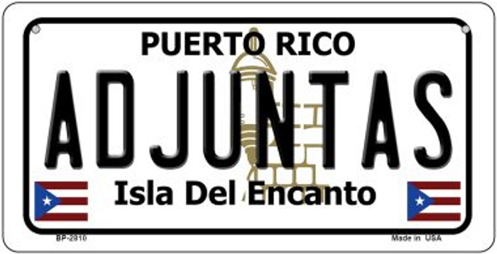 Adjuntas Puerto Rico State Wholesale Bicycle License Plate BP-2810