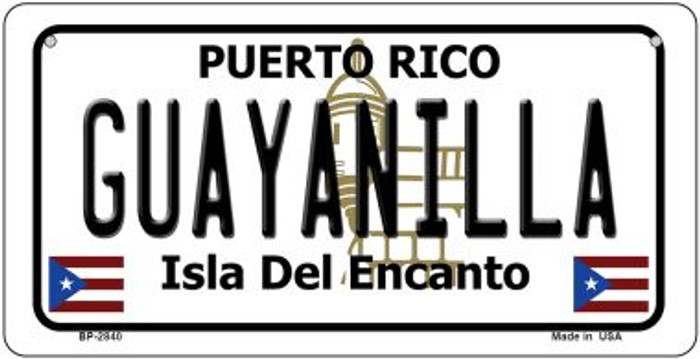Guayanilla Puerto Rico State Wholesale Bicycle License Plate BP-2840