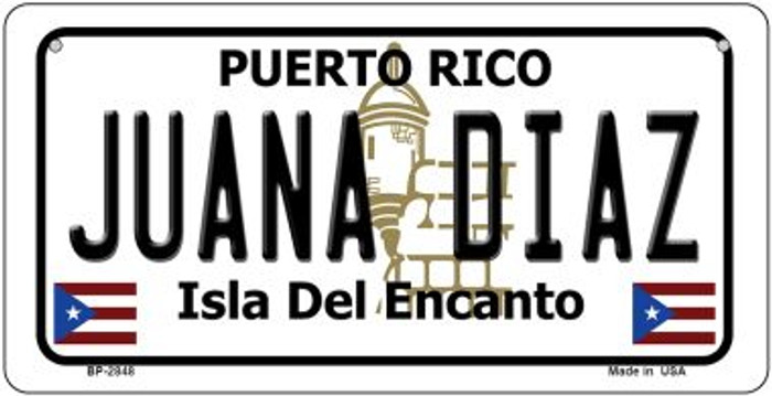 Juana Diaz Puerto Rico State Wholesale Bicycle License Plate BP-2848
