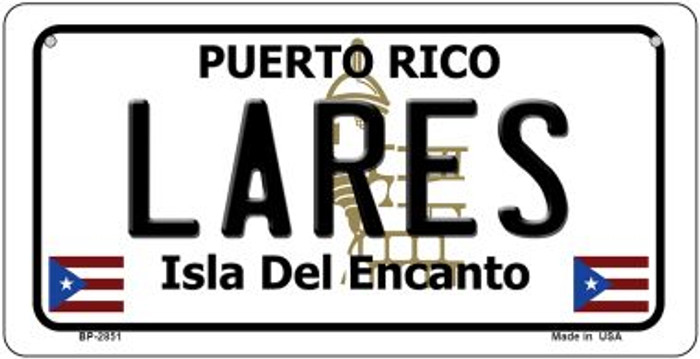 Lares Puerto Rico State Wholesale Bicycle License Plate BP-2851