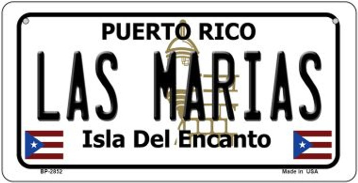 Las Marias Puerto Rico State Wholesale Bicycle License Plate BP-2852