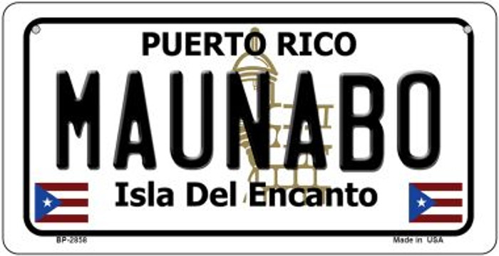 Maunabo Puerto Rico State Wholesale Bicycle License Plate BP-2858