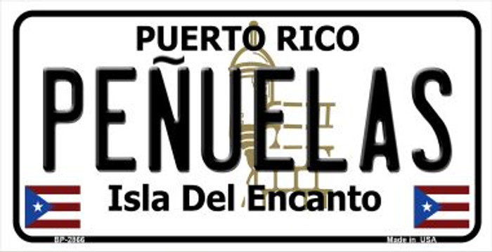 Penuelas Puerto Rico State Wholesale Bicycle License Plate BP-2866