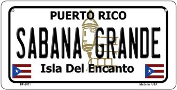Sabana Grande Puerto Rico State Wholesale Bicycle License Plate BP-2871