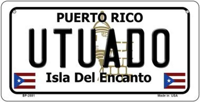 Utuado Puerto Rico State Wholesale Bicycle License Plate BP-2881