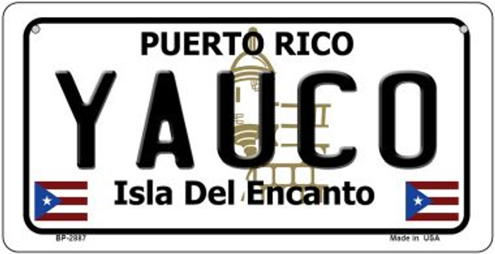 Yauco Puerto Rico State Wholesale Bicycle License Plate BP-2887