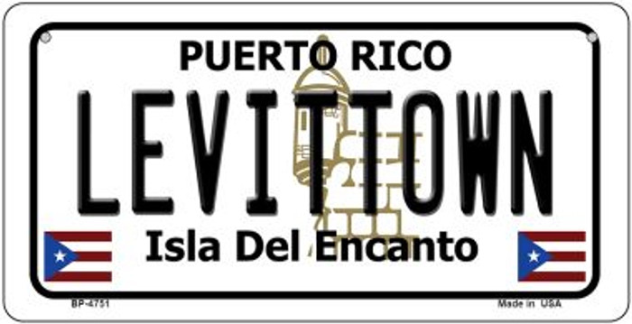 Levittown Puerto Rico State Wholesale Bicycle License Plate BP-4751
