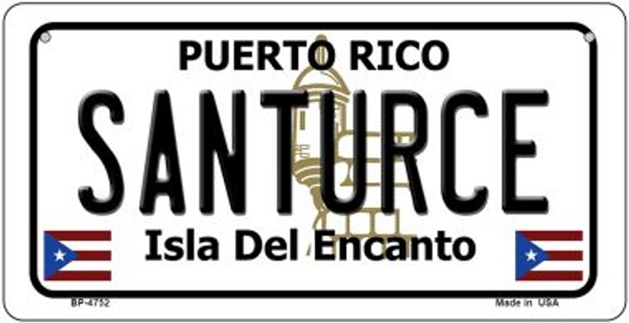 Santurce Puerto Rico State Wholesale Bicycle License Plate BP-4752