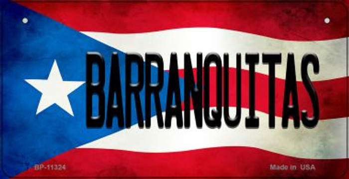 Barranquitas Puerto Rico State Flag License Plate Wholesale Bicycle License Plate BP-11324