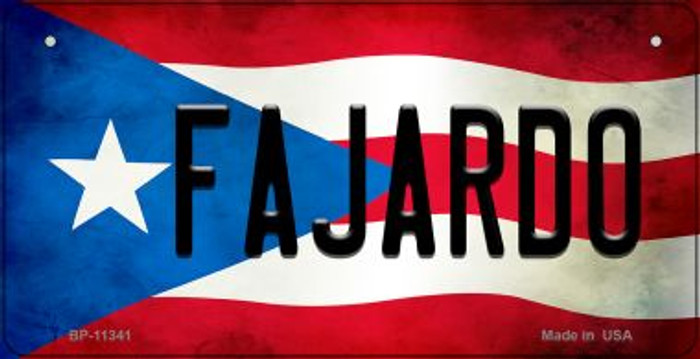 Fajardo Puerto Rico State Flag License Plate Wholesale Bicycle License Plate BP-11341