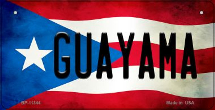 Guayama Puerto Rico State Flag License Plate Wholesale Bicycle License Plate BP-11344