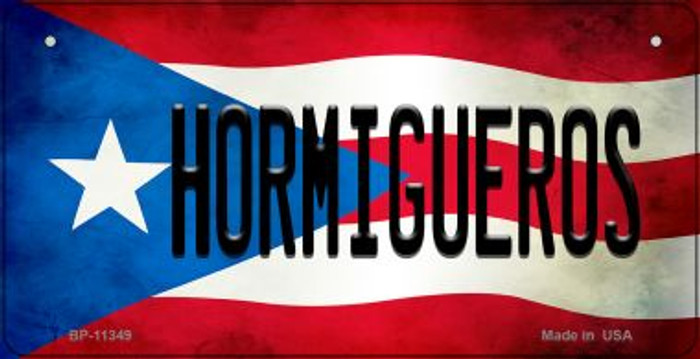 Hormigueros Puerto Rico State Flag License Plate Wholesale Bicycle License Plate BP-11349