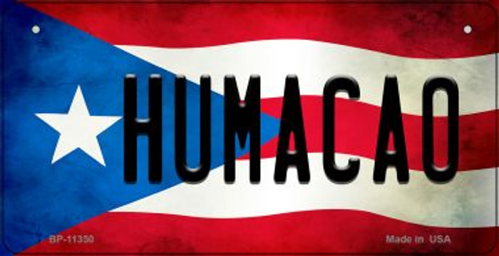 Humacao Puerto Rico State Flag License Plate Wholesale Bicycle License Plate BP-11350